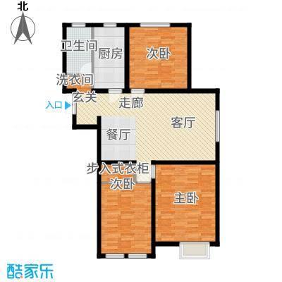 金泰丽湾127.48㎡小高层标准层C6户型3室2厅