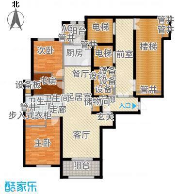 惠灵顿国际社区137.00㎡高层标准层户型2室1厅