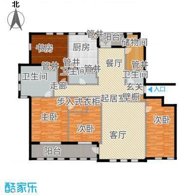 惠灵顿国际社区268.00㎡高层标准层A户型4室2厅