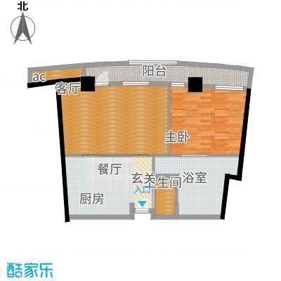 天津白金湾114.00㎡酒店式公寓户型1室2厅