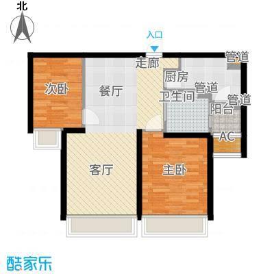 仁恒河滨花园94.00㎡二期高层11、15号楼1-28层户型2室2厅