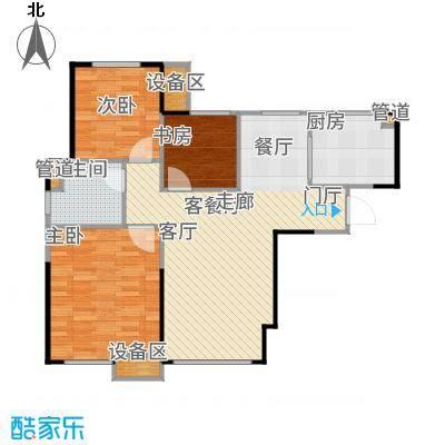 星河荣御88.00㎡二期高层标准层C户型3室2厅