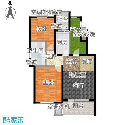 天房意境113.00㎡高层39#标准层A户型2室1厅