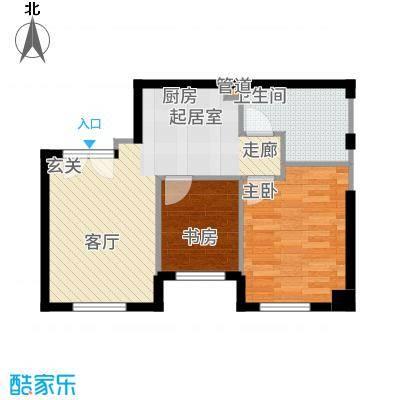 华润紫阳里74.00㎡公寓标准层D3户型2室1厅
