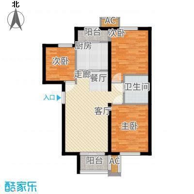 和泓四季恋城85.50㎡一期洋房标准层C2户型3室2厅