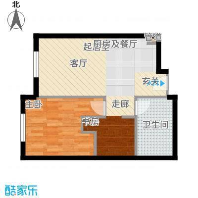 华润紫阳里68.00㎡公寓标准层C2户型2室1厅