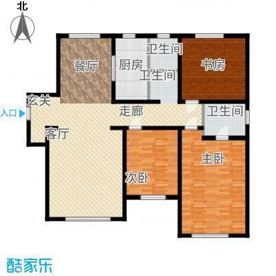 中海八里臺143.00㎡高层标准层C户型3室2厅