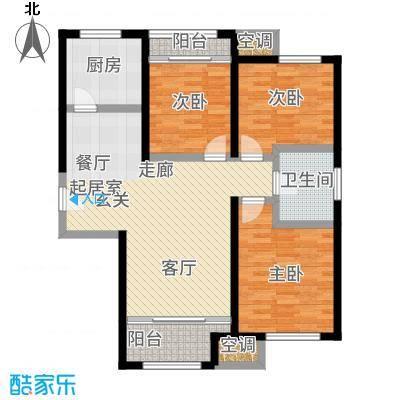 金侨公园壹号92.00㎡高层标准层C&apos户型3室2厅