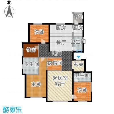 新梅江·万科柏翠园193.00㎡4、5号楼户型4室3厅