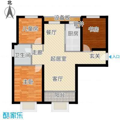宝能城101.00㎡高层标准层A1户型3室2厅