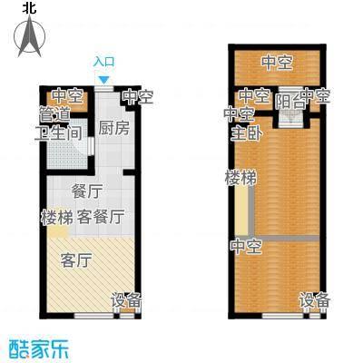 公馆星期858.63㎡高层5-16层A3户型1室3厅