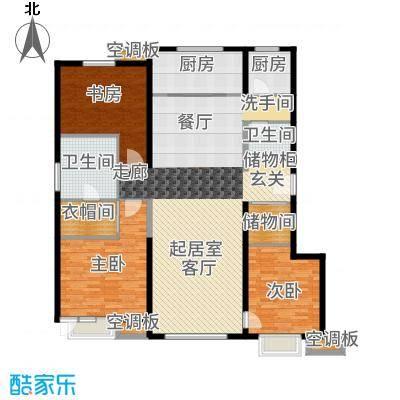 新梅江·万科柏翠园155.00㎡2、3、6、14号楼单层户型3室2厅