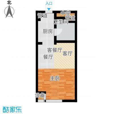 公馆星期862.24㎡高层17-23层B1户型1室2厅
