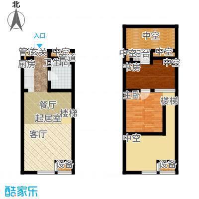 公馆星期862.09㎡高层5-16层A1户型2室3厅