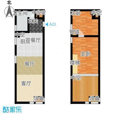 公馆星期873.23㎡高层5-16层A4户型2室3厅