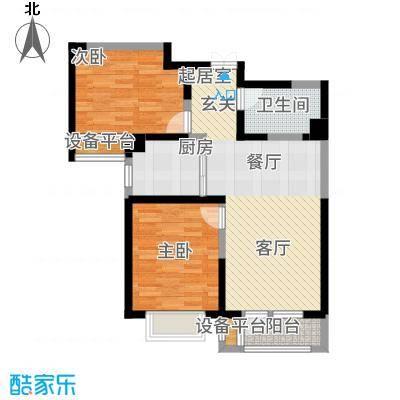 观锦92.03㎡一期高层5、6、7号楼标准层7B1户型2室2厅