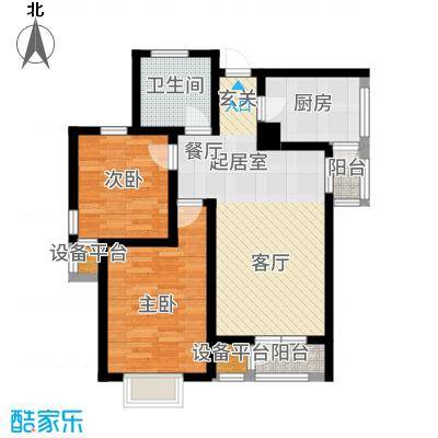 观锦92.35㎡高层标准层5B户型2室2厅