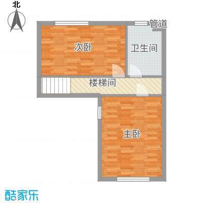 汇金置地广场60.00㎡B3二楼户型2室2厅2卫1厨