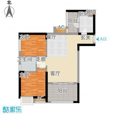 中铁城锦南汇78.00㎡D/D1户型2室2厅