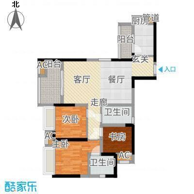 中铁城锦南汇89.00㎡C2户型2室2厅