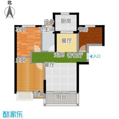 武汉锦绣香江二期96.00㎡武汉锦绣香江E1、E2、E3、E5、E6栋A1户型3室2厅