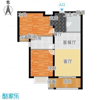 金隅满堂87.00㎡高层标准层户型2室2厅