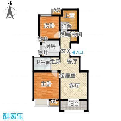 社会山201496.00㎡洋房标准层B3户型2室2厅