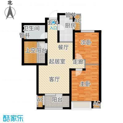 社会山201491.00㎡高层标准层C2户型2室2厅