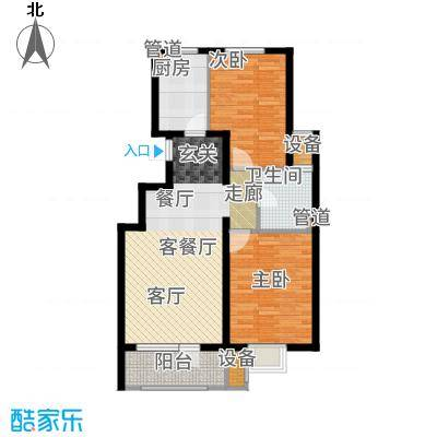 金隅满堂90.00㎡高层标准层户型2室2厅