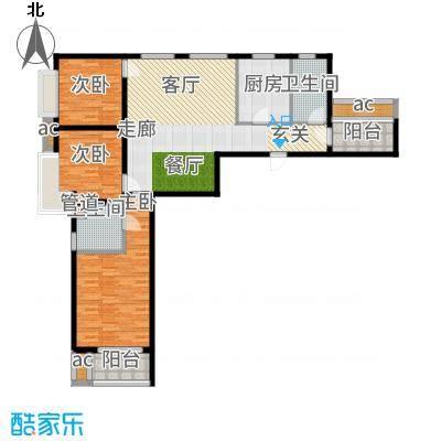 北辰红星国际广场116.00㎡高层标准层A2户型3室2厅