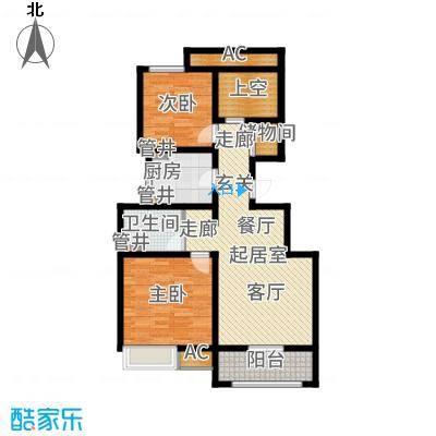 社会山201492.00㎡洋房标准层B4户型2室2厅