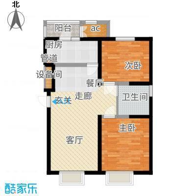 天物未来城90.61㎡高层5-8号楼标准层A3户型2室2厅