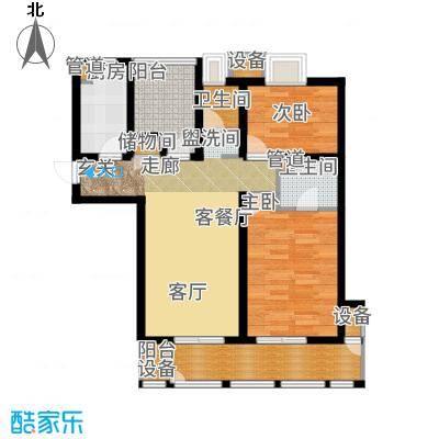 金地自在城83.00㎡三期高层B户型2室2厅