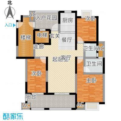 复地新都国际138.00㎡01、12、13号楼D户型3室2厅