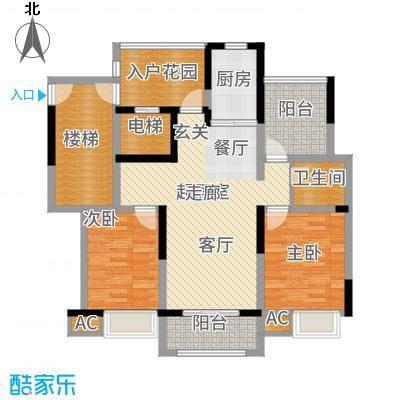 复地新都国际103.00㎡01号楼A户型2室2厅