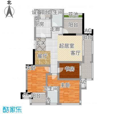 高科荣域115.52㎡B20户型3室2厅