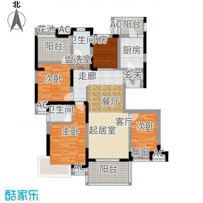 高科荣域133.00㎡F20户型4室2厅
