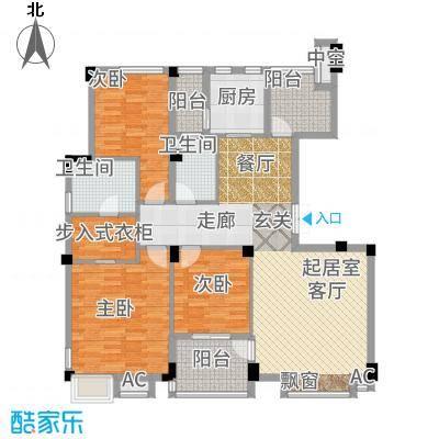高科荣域126.00㎡I-3户型3室2厅
