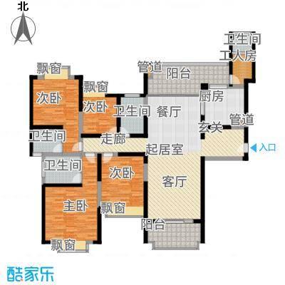 雅居乐滨江国际178.00㎡君悦组团8B3户型4室2厅