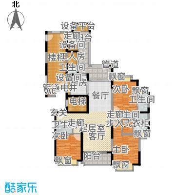 雅居乐滨江国际199.00㎡君悦组团17A3户型3室2厅