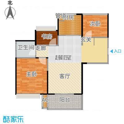 朗诗未来街区79.00㎡C3户型3室2厅