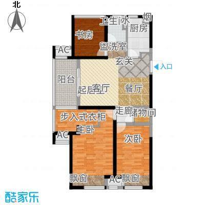 新城玖珑湖102.00㎡B1户型2室1厅
