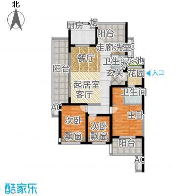 新城玖珑湖136.00㎡D2户型4室2厅