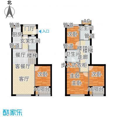 华府国际123.00㎡F-1户型4室3厅