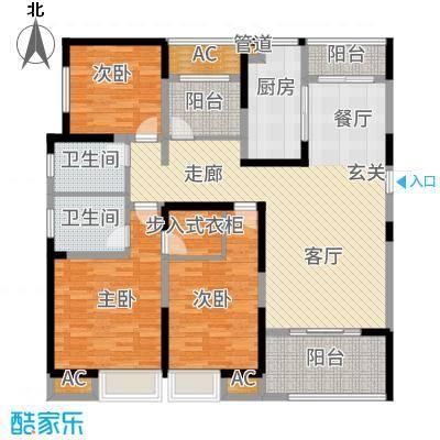 中海国际社区143.00㎡阔绰3+户型