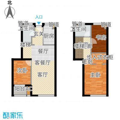 华府国际96.00㎡F-2、E-1户型3室2厅