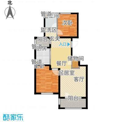 朗诗保利麓院88.00㎡6#楼206户型2室2厅