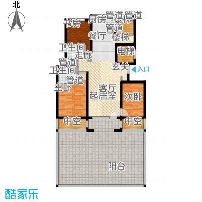 朗诗保利麓院125.00㎡2#102户型3室2厅