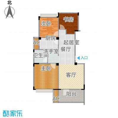 朗诗未来街区85.00㎡G2户型3室2厅