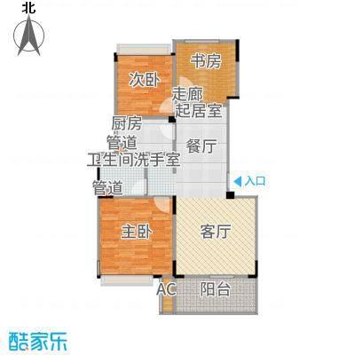 朗诗未来街区82.00㎡B户型3室2厅
